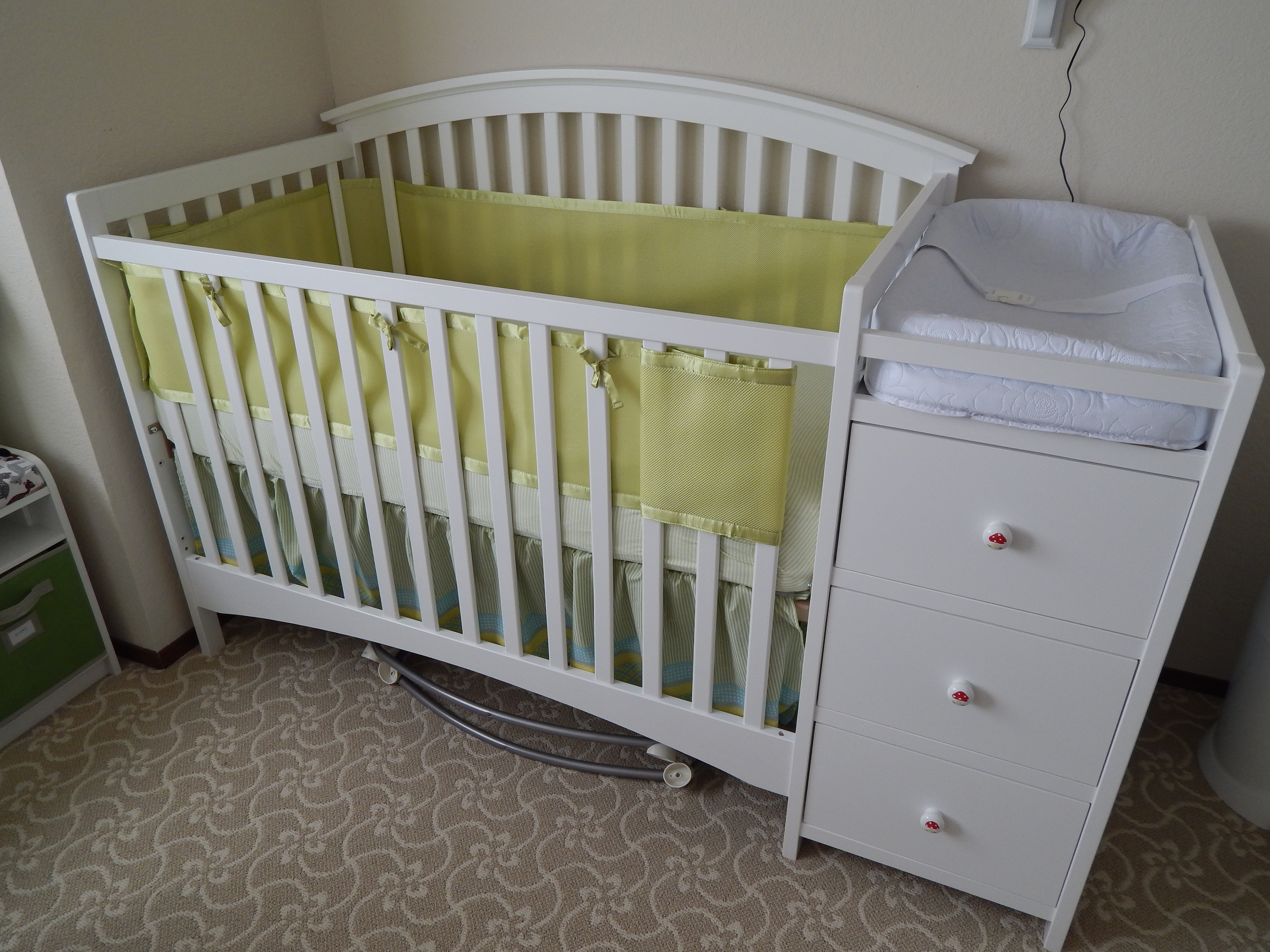 black baby cribs with changing table attached the