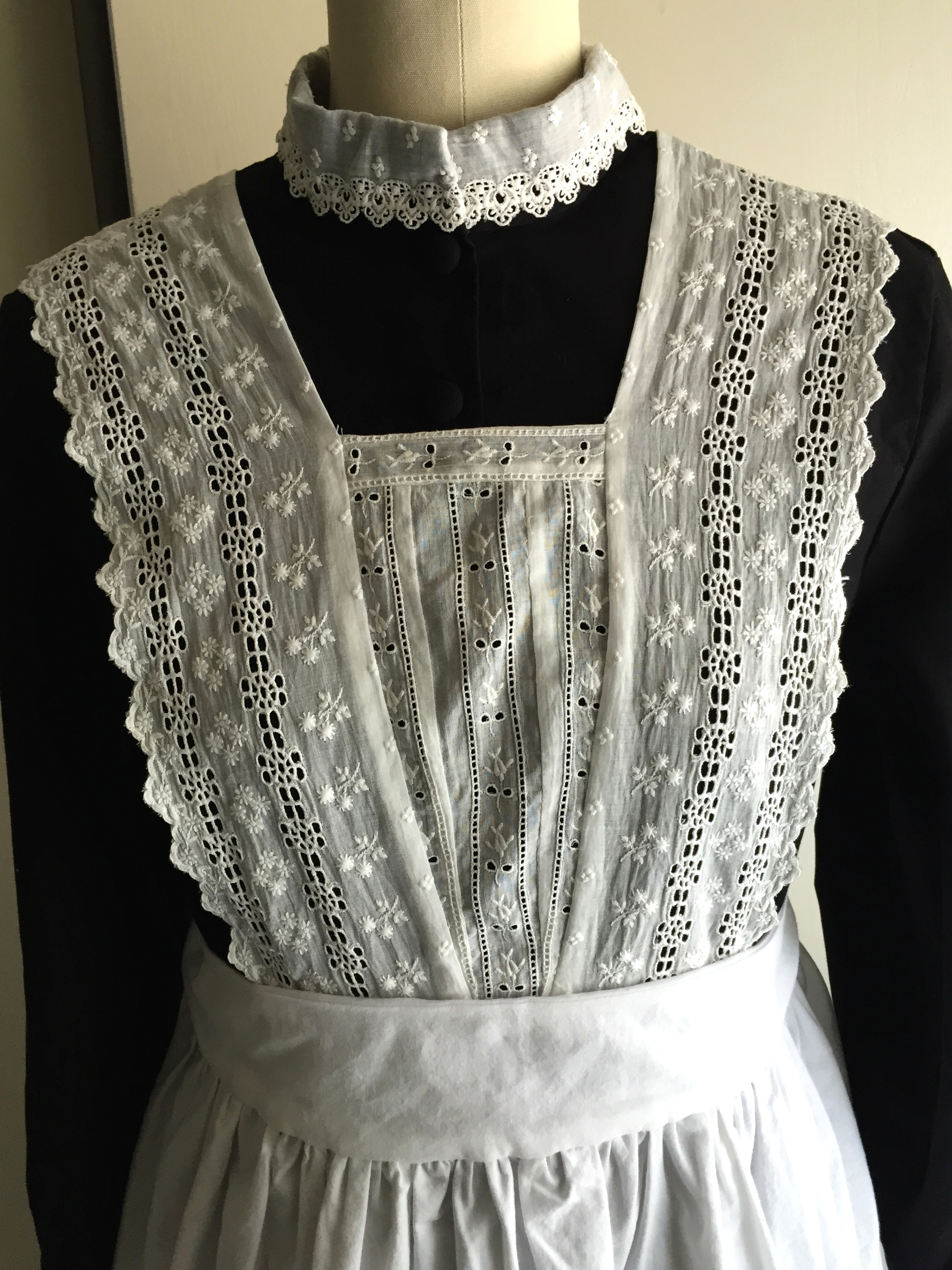 Edwardian white apron
