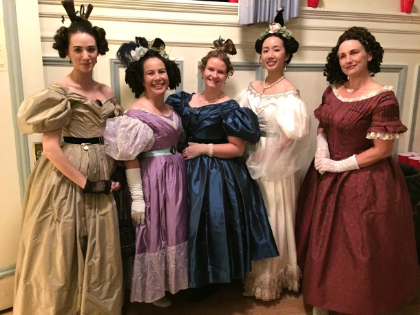 There Is A Mini Reunion Of Our Hopeless Romantics Group Along With Few New Ladies In 1830s Clothing